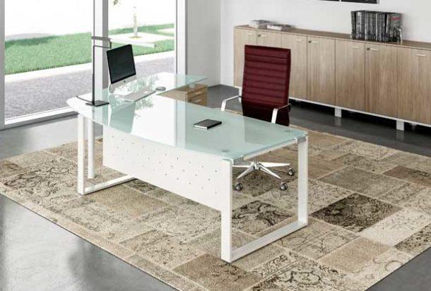 Scrivania direzionale gamba ring Quadrifoglio x time work Adv arredamentI ufficio Torino