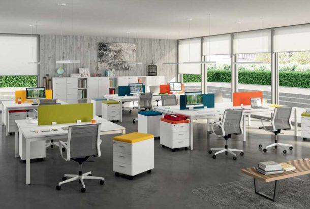 Scrivania operativa Quadrifoglio X4 Adv arredamentI ufficio Torino