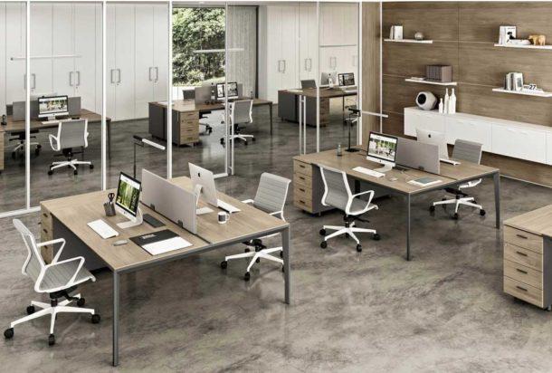 Scrivania operativa Quadrifoglio X5 Adv arredamentI ufficio Torino