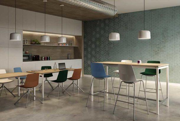 Tavolo alto Quadrifoglio creo Adv arredamentI ufficio Torino