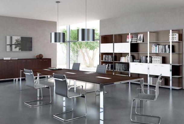 Tavolo riunioni QUADRIFOGLIO X7 Adv arredamento ufficio Torino