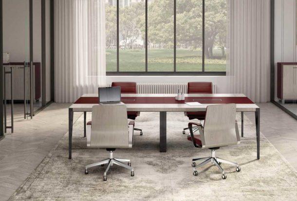 Tavolo riunioni QUADRIFOGLIO X9 Adv arredamento ufficio Torino