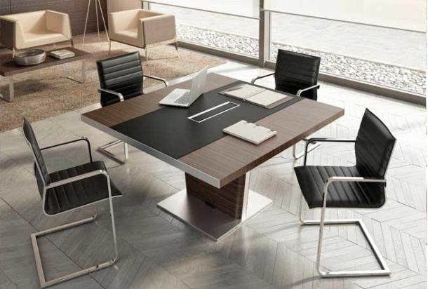 Tavolo riunioni QUADRIFOGLIO X10 Adv arredamento ufficio Torino