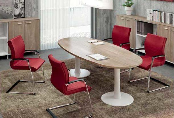 Tavolo riunioni QUADRIFOGLIO X TIME WORK Adv arredamento ufficio Torino