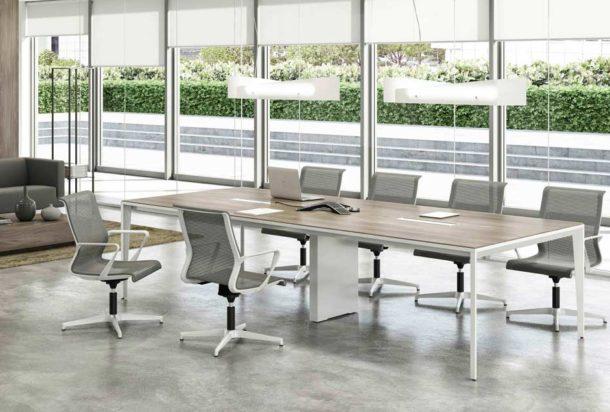 Tavolo riunioni QUADRIFOGLIO X5 WORK Adv arredamento ufficio Torino