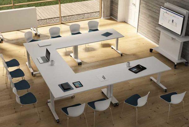 Tavolo riunioni BRALCO WINGLET Adv arredamento ufficio Torino