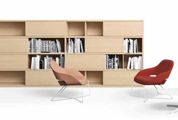 libreria Abacus tradizionale Sinetica Adv arredamenti ufficio Torino