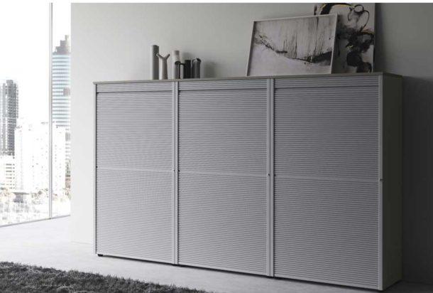 armadio mobile con serrandina las universali Adv arredamenti ufficio Torino
