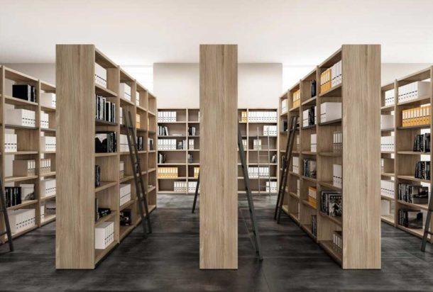 libreria a giorno Quadrifoglio Adv arredamenti ufficio Torino