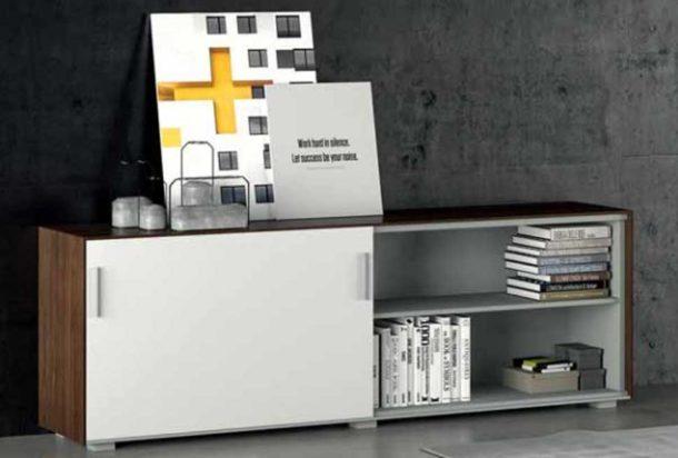 armadio libreria anta scorrevole ala Doimo Office Adv arredamenti ufficio Torino