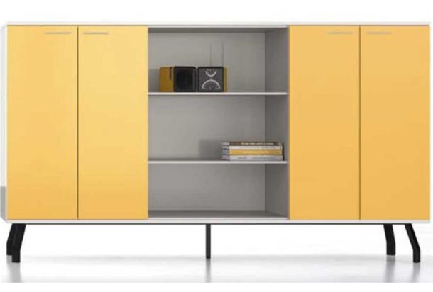 armadio mobile contenitore alto su piedi iron Doimo Office Adv arredamenti ufficio Torino