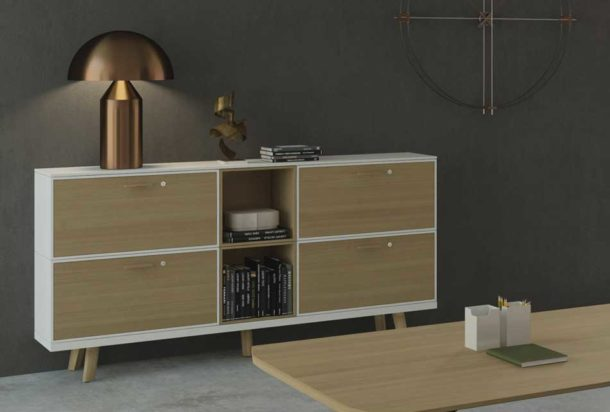 armadio metar moduli di servizio Bralco Adv arredamenti ufficio Torino
