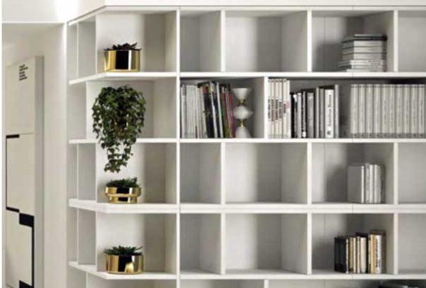 libreria Mood Doimo office Adv arredamenti ufficio Torino