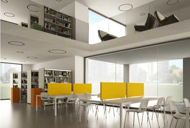 pannello fonoassorbente piano scrivania caruso scriva acustica Adv arredamenti ufficio Torino