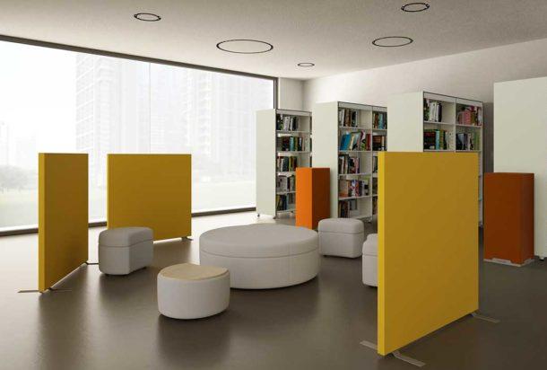 pannello fonoassorbente terra divisorio caruso d-space acustica Adv arredamenti ufficio Torino