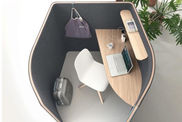 Martex Nucleo temporary work cabina fonoassorbente Adv arredamenti ufficio Torino