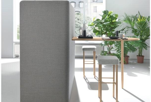 Martex Nucleo Corner cucina con divisori fonoassorbenti Adv arredamenti ufficio Torino