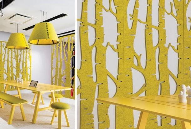 BuzziFalls pannello fonoassorbente Adv arredamenti ufficio Torino