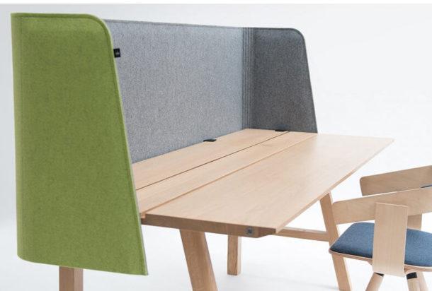 Buzzi space wrap desk pannello fonoassorbente Adv arredamenti ufficio Torino