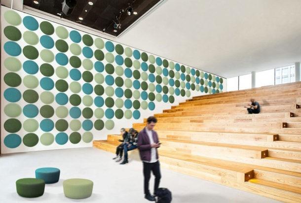 Slalom EcoBubble hub pannello fonoassorbente Adv arredamenti ufficio Torino