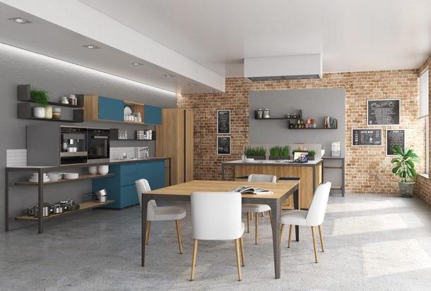 cucina Estel coffice buffet Adv arredamenti ufficio Torino