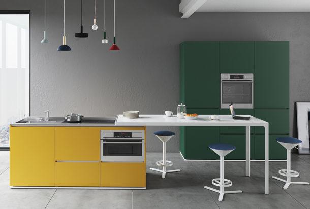 cucina Estel Estel isola compact Adv arredamenti ufficio Torino