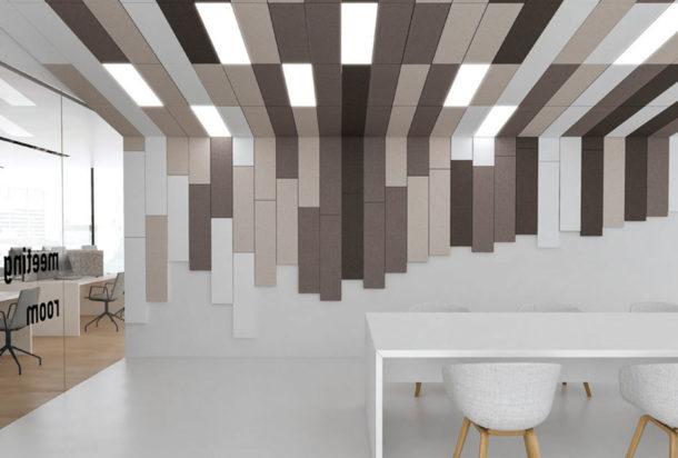 Garvan Surface rivestimento parete e soffitto Adv arredamenti ufficio Torino