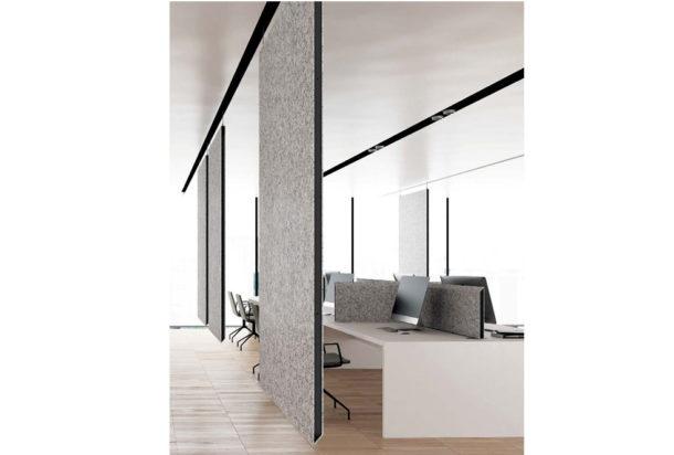 Garvan Blade pannelli a soffitto Adv arredamenti ufficio Torino