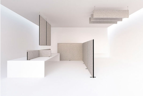 Garvan Blade pannelli a soffitto freestanding scrivania Adv arredamenti ufficio Torino