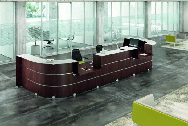 reception Quadrifoglio Glass adv arredamento ufficio Torino