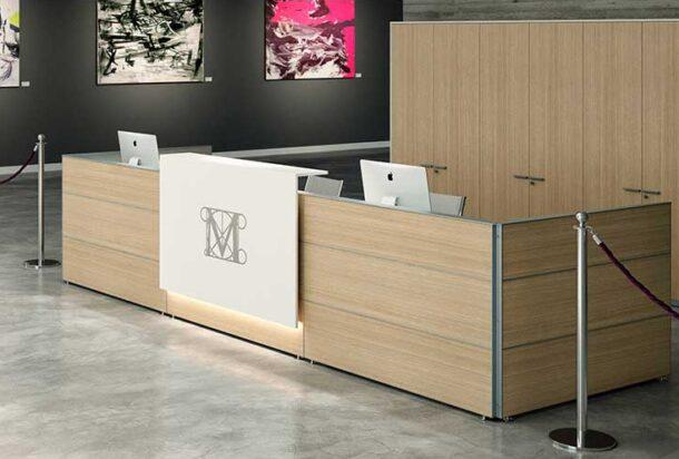 reception Bralco reception lineare ADV arredamento ufficio Torino