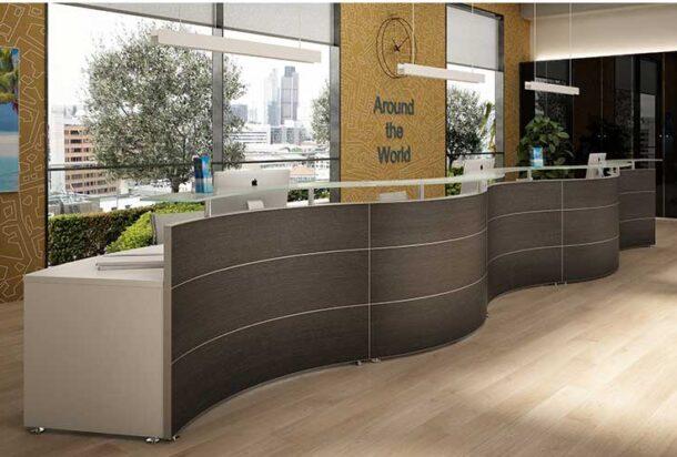 reception Bralco reception ondulare ADV arredamento ufficio Torino